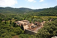 Lluc Monastery, Santuari de Lluc, pilgrimage church, pilgrims hostel, Escorca, Mallorca, Balearics, Spain, Europe