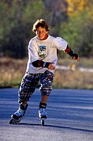 adolescent on inline_skates
