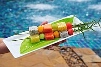 Exotic fruit skewers