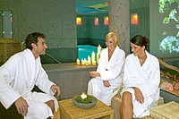 People relaxing at a wellness hotel