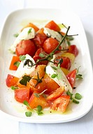 Insalata caprese Tomato and mozzarella salad, Italy