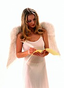 blonde girl as an angel