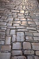 Cobblestones, Rovinj, Adriatic, Istria, Croatia, Europe