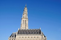 Belfried, Beffroi, Bell-tower, watch-tower, town hall, Arras, Nord Pas de Calais, France, Europe