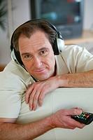 man, listening music