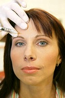 woman getting a botox injection