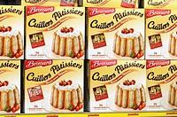 Desserts in a supermarket, France