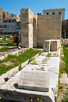 Ruins of Tetraconch church at Hadrian´s Library in Plaka district of Athens Greece Europe