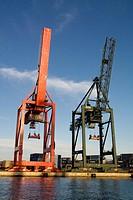 Cranes, port of Barcelona, Catalunya, Spain