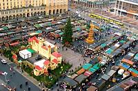 Christmas market Striezelmarkt, Germany, Saxony, Dresden