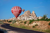 hot_air balloons over Cappadocia, Turkey, Cappadocia, Uchisar