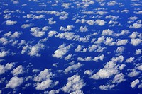 clouds in the sky over the Atlantic ocean, aerial photograph, Spain
