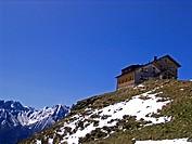 Starkenburg alpine hut 2229m, Stubai Alps, Austria, Tyrol
