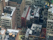 view on various tops of buildings, USA, Manhattan, New York