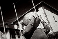 Harrijasotzaileak, stone lifting  Rural basque sport  Spain