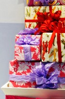 Wrapped Gifts in a stack