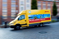 DHL, a subsidiary of Deutsche Post _ delivery van, Germany