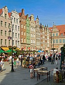 Tourists and Locals in the historical old town of Gdansk, Poland, Gdansk