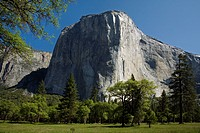 EL CAPITAN in the YOSEMITE VALLEY during springtime, USA, California, Yosemite National Park