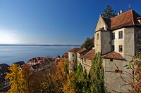 view from the castle over Meersburg on Lake Constance, Germany, Baden_Wuerttemberg, Meersburg