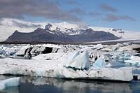 glacial lake Joekulsarlon, Iceland, Vantnajoekull
