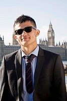 Hispanic Teenager in suit and shades