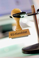 stamp EU_Kandidat, European Union canditate