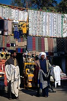 Souvenirs for sale at a bazaar, Aswan, Egypt