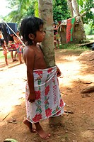 Embera Indian girl on the Sambu River, Panama, Darien, Rio Sambu