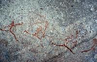 rock painting, Nswalungi cave, Zimbabwe, Matobo National Park