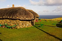 Black Houses - Re-creation of typical farm dwellings of the 18th and 19th centuries in Scotland  The black house Scottish Gaelic : taigh dubh formerly...