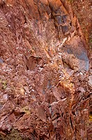 Natural mountain with red rodeno stone texture pattern