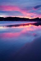Beach at sunrise, Laredo. Cantabria, Spain