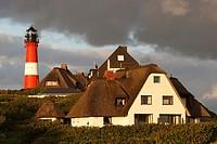 Hoernum mit Leuchtturm / Hoernum with Lighthouse / Sylt / Deutschland / Germany