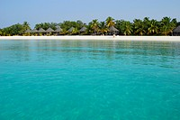 Maldive Islands, Holiday resort on sea