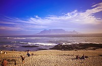 South Africa, Table Bay, Capetown and Table Moutain from Bloubergstrand, Capetown Kaapstad, Western Cape