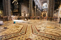 Italy, Siena, Floor of Siena Cathedral