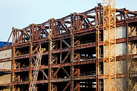 Palace of the republic, demolition framework, Germany, Berlin