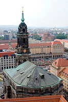 View from the Kreuzkirche, Germany, Saxony, Dresden