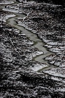 Frozen river in Cairngorms
