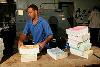The Catholic Standard's printing office in Georgetown, Guyana, South America