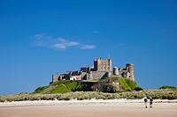 England, Northumberland, Bamburgh, Bamburgh Castle
