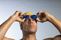 Close_up of a swimmer