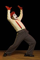 Mime performing on a stage
