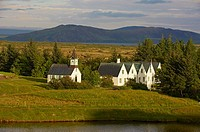 Thingvellir National Park protects the remains of one of the oldest parlamentary institutions of the world, Iceland