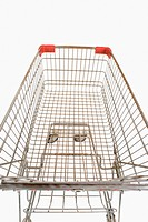 Close_up of a shopping cart