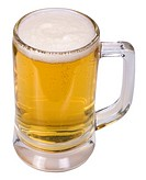 Close_up of a mug of beer
