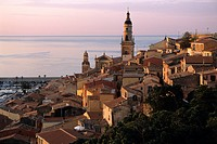 View of Menton on the French Riviera