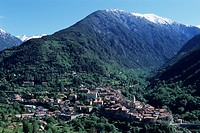 View of the village of Saint_Martin_Vésubie, France