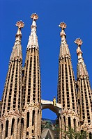 Spain, Catalonia, Barcelona, The church of the Holy Family, Sagrada Familia